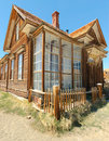 Bodie ghost town, building in arrested decay Royalty Free Stock Images