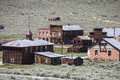 Bodie ghost town buildings at state historic park in california Royalty Free Stock Photo