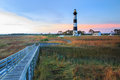 Bodie Island Lighthouse Boardwalk Marsh North Carolina Royalty Free Stock Photo