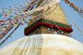 Bodnath stupa in Kathmandu, Nepal Royalty Free Stock Photo