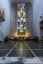 Bodo cathedral the altar and stained glass window of Stock Photography