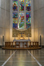 Bodo cathedral the altar and stained glass window of norway Royalty Free Stock Image
