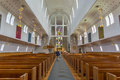 Bodo cathedral inside of norway with people attending Royalty Free Stock Images