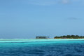 Bodufinolhu fun island view from water south male atoll maldives Stock Photo
