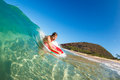 Body Boarder Surfing Stock Photography