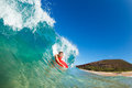Body Boarder Surfing Royalty Free Stock Images