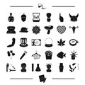 Body, body and other web icon in black style. food, computer, tool icons in set collection.