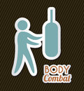 Body combat over black background vector illustration Royalty Free Stock Photography