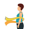 body female with tape measure Royalty Free Stock Photo