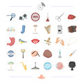 Body, food, tool and other web icon in cartoon style.man, medicine icons in set collection.