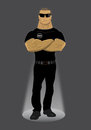 Body Guard illustration Stock Photos
