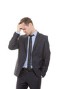Body language. man in business suit isolated on Royalty Free Stock Photo