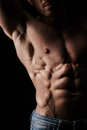 Body of man torso attractive muscular Royalty Free Stock Photo