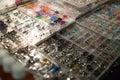 Body piercing jewelry Royalty Free Stock Photo