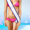 Body with tape of beauty contest Stock Photo