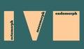 Body types: Ectomorph, Mesomorph and Endomorph. Vector illustration. Royalty Free Stock Photo