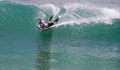 Bodyboarder in a wave at laguna beach ca image shows surfing sleepy hallow cleo street california this black balled to board Stock Photos