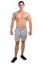 Bodybuilder bodybuilding muscles standing whole body portrait mu Royalty Free Stock Photo