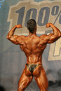Bodybuilder in a competition Royalty Free Stock Image