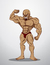 Bodybuilder fitness illustration an body builder showing his muscles Royalty Free Stock Images