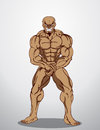 Bodybuilder Fitness Illustration