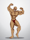Bodybuilder fitness illustration an body builder showing his muscles Royalty Free Stock Photo