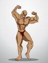 Bodybuilder Fitness Illustration