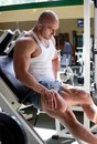 Bodybuilder in gym athletes train the Royalty Free Stock Photos