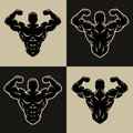Bodybuilder logo, symbol.