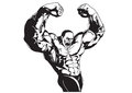 Bodybuilder poses