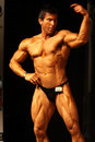 Bodybuilder posing Royalty Free Stock Photos