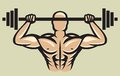 Bodybuilder vector illustration of the Royalty Free Stock Photography