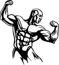 Bodybuilding en powerlifting vector Stock Afbeelding