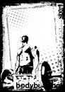 The Bodybuilding Poster Royalty Free Stock Photography