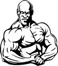 Bodybuilding and powerlifting vector illustration Royalty Free Stock Image
