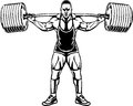 Bodybuilding and powerlifting vector illustration Stock Photography