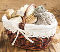 Bodycare Products in a Wicker Basket Royalty Free Stock Photo