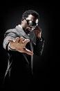 Bodyguard black man Stock Photos