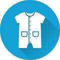 Bodysuit baby icon. Vector illustration.