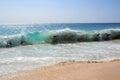 Bodysurfing Sandy Beach Hawaii Royalty Free Stock Photo