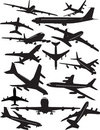 Boeing 707 silhouettes Royalty Free Stock Photo