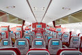 Boeing787 cabin interior Royalty Free Stock Photo