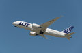 Boeing dreamliner lot polish airlines short after take off editorial use only Stock Photography