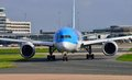 Boeing dreamliner taxiing at manchester airport Stock Image