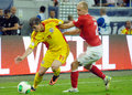 Bogdan stancu and semih kaya in romania turkey world cup qualifier game s s pictured action during the between Stock Photos