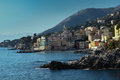 Bogliasco view of from nervi Royalty Free Stock Images
