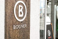 Bogner sign infront of a german fashion store Stock Photography