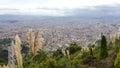 Bogota cityscape from monserrate mountain top Stock Photos