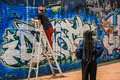 Bogota graffiti artists anf graffiti scene, bogota, Cundinamarca, colombia Royalty Free Stock Photo