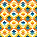 Bohemian aztec large diamonds orange pattern